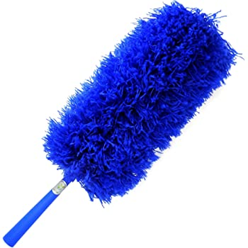 CleansGreen Microfiber Feather Dusters for Cleaning: Extendable, Reusable, Bendable, Screw Head on Your Pole | Dusting/Cleaning Car, Blinds, Cobweb | No Swiffer Refills or Dusters Replacement Required