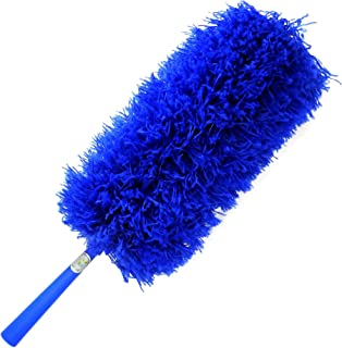 CleansGreen Microfiber Feather Dusters for Cleaning: Extendable, Reusable, Bendable, Screw Head on Your Pole   Dusting/Cleaning Car, Blinds, Cobweb   No Swiffer Refills or Dusters Replacement Required