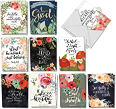 Praise Papers - Box of 20 Blank Inspirational Note Cards with Envelopes (4 x 5.12 Inch) - Assortment of Motivational, All Occasion Greeting Cards - Spiritual, Religious Notecard Set AM6635OCB-B2x10