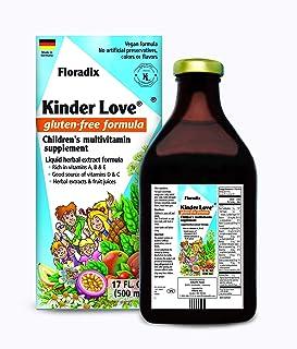 Salus Haus - Childrens Multivitamin Kinder Love Liquid 17 Ounce - Vitamins A, B, C, D, E, Calcium, Magnesium - Kosher, Non...