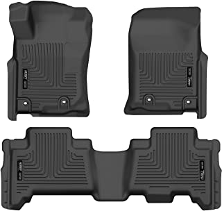 Husky Liners 99571 Black Weatherbeater Front & 2nd Seat Floor Liners Fits 2014-2019 Lexus GX460, 2013-2019 Toyota 4Runner