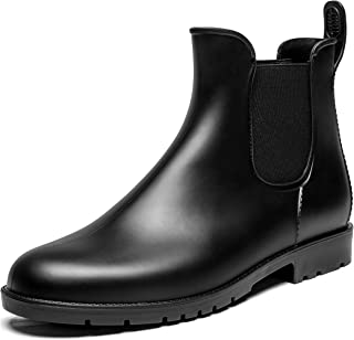 Chelsea Ankle Rain Boots Women Short Waterproof Wellington Wellies Rain Booties Ladies Rain Shoes