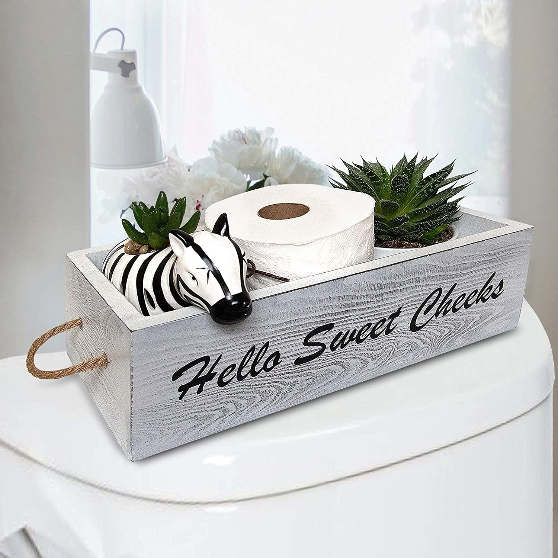 LIVWINS - Max 48% OFF Funny Bathroom Decor Farmhouse Wood Rustic Columbus Mall Crate Box