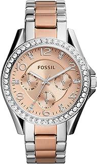 Women's Riley Stainless Steel Multifunction Glitz Quartz Watch