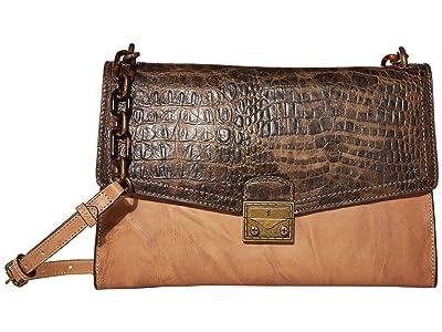Frye Ella Flap Shoulder (Beige Multi) Handbags