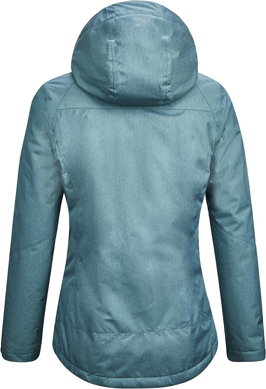 Killtec Ostfold Wmn Jckt E Chaqueta funcional 3 en 1 con capucha desmontable y chaqueta con cremallera en aspecto de plum/ón Mujer