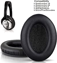 Bingle Cushions Bose Headphones Replacement Ear Pads for QuietComfort 15 QC15 QC25 QC35 QC2 Ae2 Ae2i Ae2w SoundTrue & SoundLink Around Ear Headphones (Black)