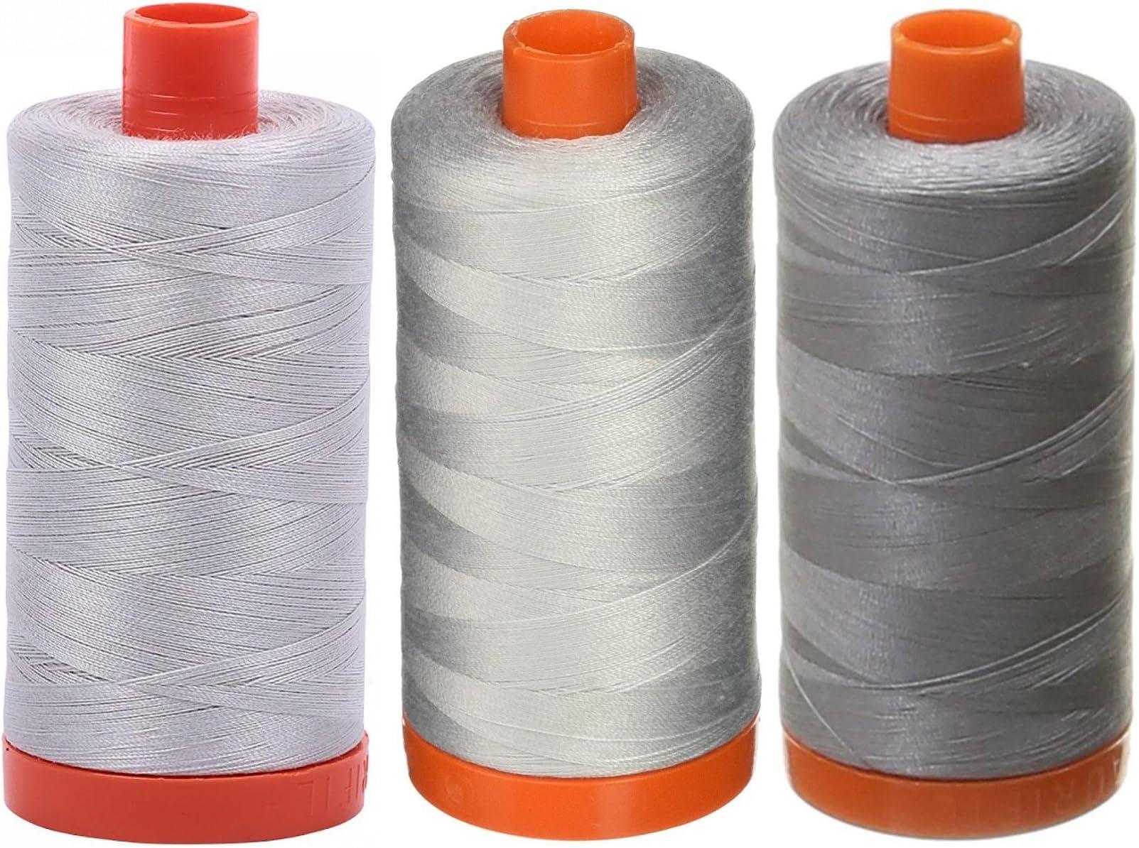 GREY SMOKE #5004 Aurifil Cotton Thread 50 wt 1422 yds