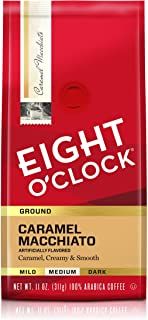 Eight O`Clock Ground Coffee, Caramel Macchiato, 11 Ounce