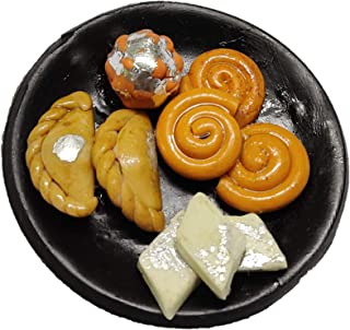 Indian Sweets Mithai Food Miniature Polymer Clay Fridge Magnet (3.5 cm)