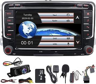 17,8 cm Doppel DIN in Dash Auto Stereo für VW Volkswagen Golf Passat Polo Jetta Tiguan Eos Touran Scirocco Skoda Seat mit DVD Player GPS Navigation USB SD FM AM RDS Radio Bluetooth