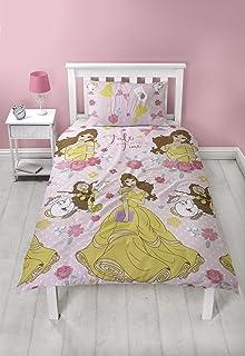 Disney Princess Belle - Juego de Funda de edredón (Microfibra), Color Rosa