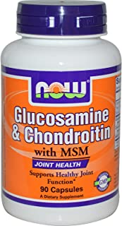 Now Food Glucosamine & Chondroitin With Msm, 90 Capsules