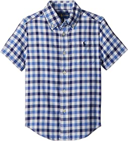 Plaid Performance Oxford Shirt (Toddler)