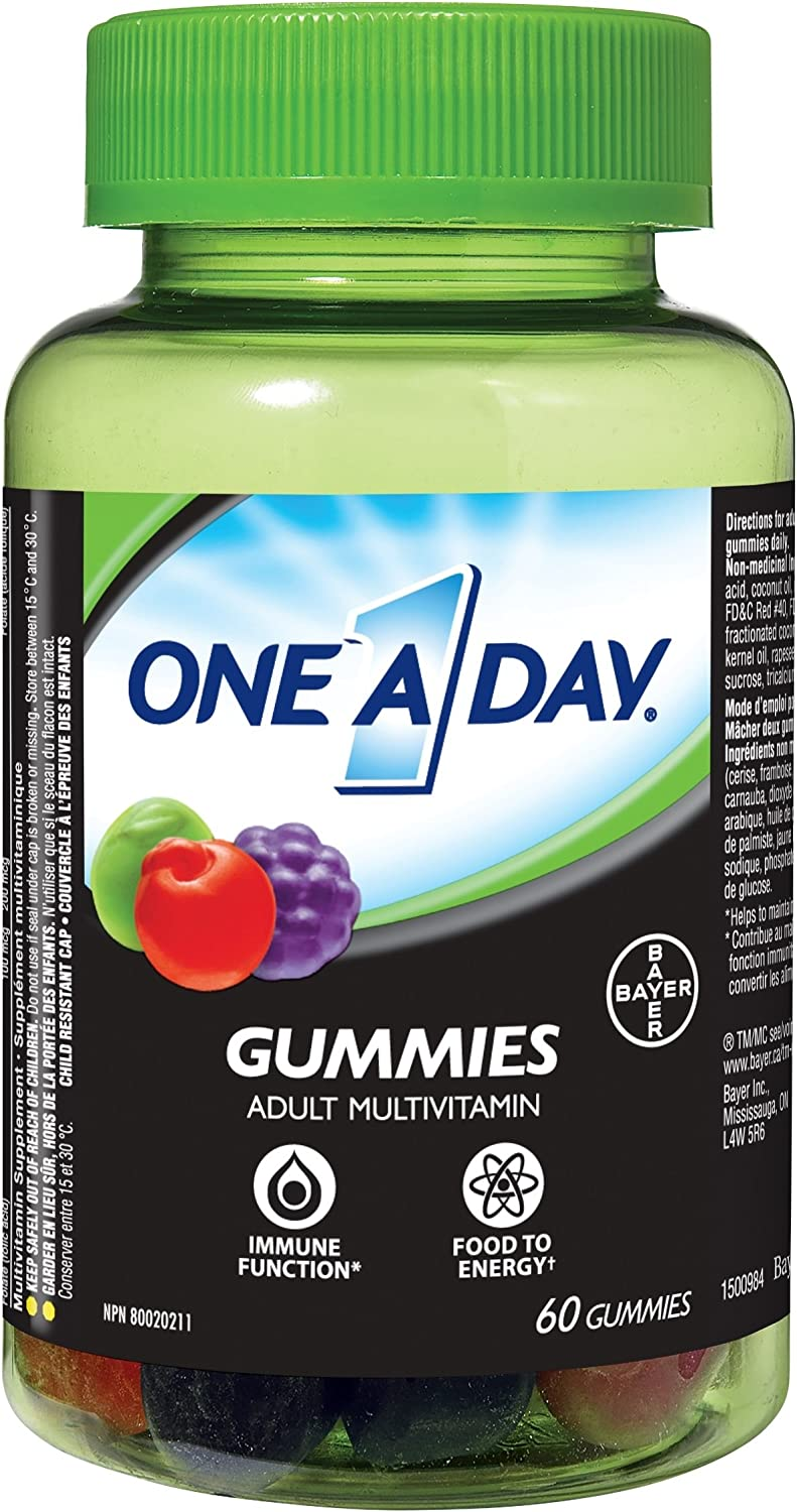 Bayer One A latest Day Fruiti-ssentials Adult C Multi-Vitamin 60 Gummys New products world's highest quality popular