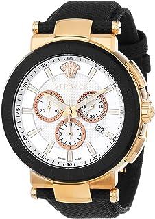Versace - Reloj para Hombre VFG050013 Mystique Sport de 46 mm Chapado en Oro Rosa iónico de Acero Inoxidable con cronógrafo, taquímetro con Fecha