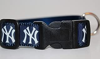New York Yankeees Collar | Baseball Dog Collar | Yankees Dog Collar | MLB Dog Collar | Adjustable Dog Collar | Sport Dog Collars | Dogs