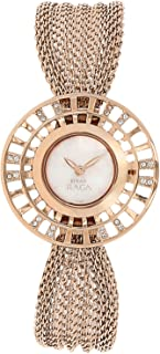 Titan Raga Aurora Bracelet Dress Watch with Swarovski Crystals - Quartz, Water Resistant - Gold Band and Mother of Pearl Dial