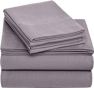 Pinzon Cotton Flannel Bed Sheet Set - California King, Graphite