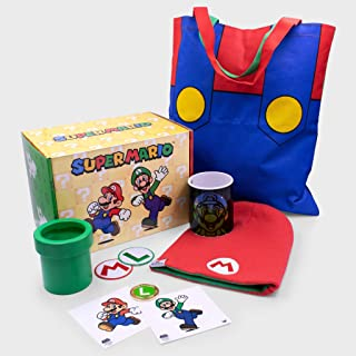 Culturefly Super Mario Collector's Gift Box Officially Licensed with 8 Exclusive Mario and Luigi Items