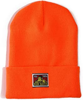 Acrylic Cuffed Beanie Skull Cap (Orange)