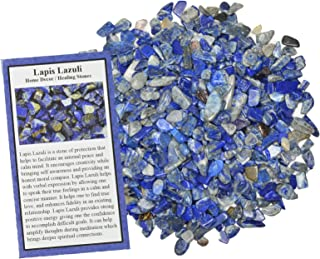 Digging Dolls: 1/2 lb of Tumbled Lapis Lazuli Chip Stones - Polished Rocks for Crafts, Art, Vase Filler, Decoration, Reiki, Crystal Jewelry Making and More!