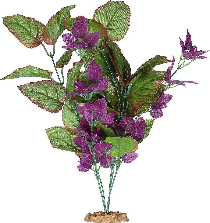 Imagitarium Purple Cluster Silk Aquarium Plant, Small