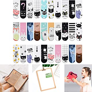 36 Pieces Magnet Magnetic Bookmarks, Cute Magnet Page Markers Page Clips Bookmark for Students Teachers School Home Office...