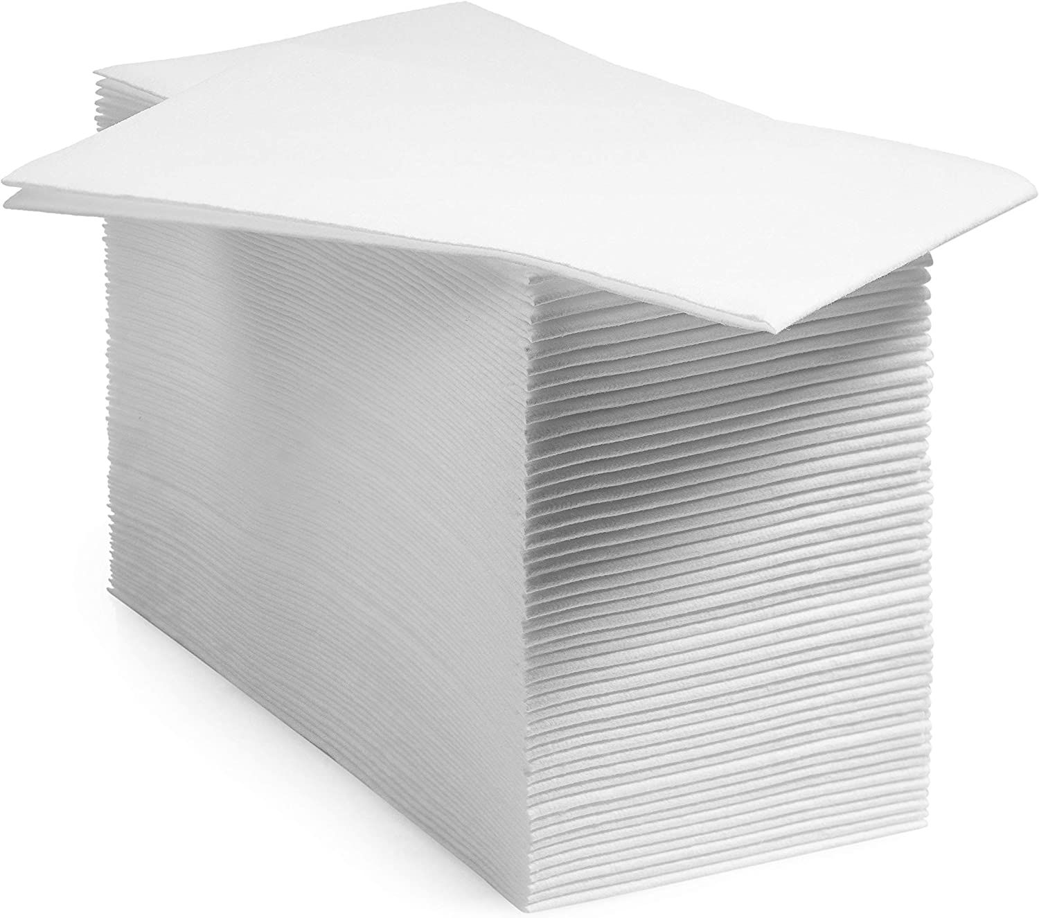 BloominGoods Disposable Linen-Feel Guest Hand Towels Cloth-Like Paper Napkins, White, Pack of 1000 (Bulk Packaging)