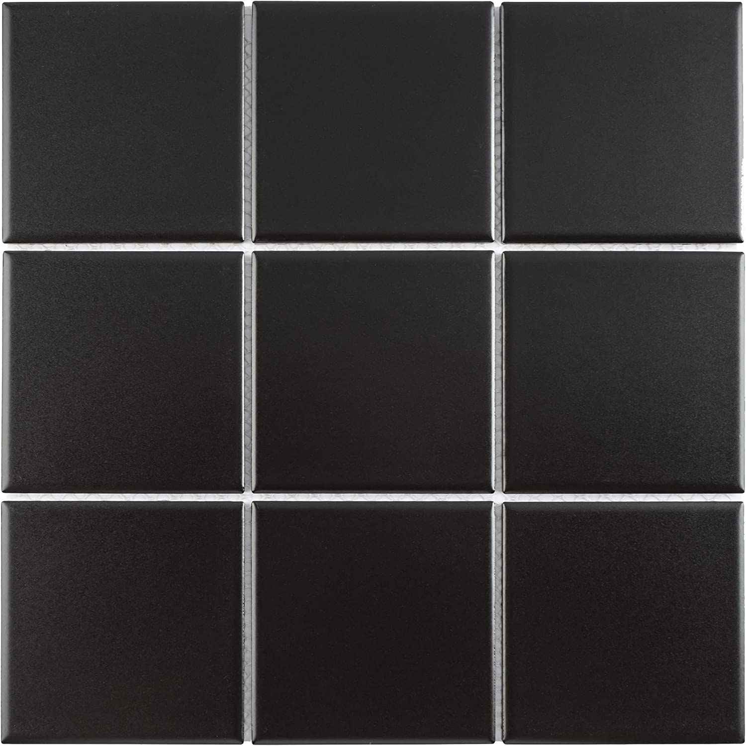 Limited to 1pc per Person Small Sample Swatch Floor /& Wall Tile Mosaic Tile Matt Finish BT-PM14 4 x 4 Square Black Porcelain