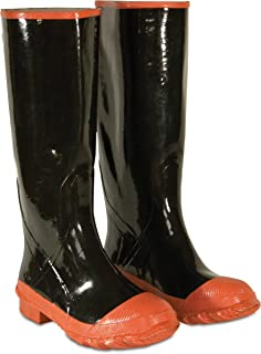 CLC Custom Leathercraft Rain Wear R21010 Red Sole and Toe Rubber Boot, Size 10