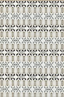 Mad Mats Moroccan Indoor/Outdoor Floor Mat, 6 by 9-Feet, Cool Silver