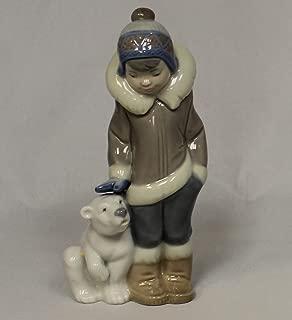 Lladro Figurine 5238, Eskimo Boy with Pet