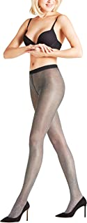 FALKE Strumpfhose Highshine 20 Denier Größe S-L Damen schwarz verstärkte Feinstrumpfhose mit Muster halb blickdicht reißfest mit Glitzer und Glanz 1 Stück