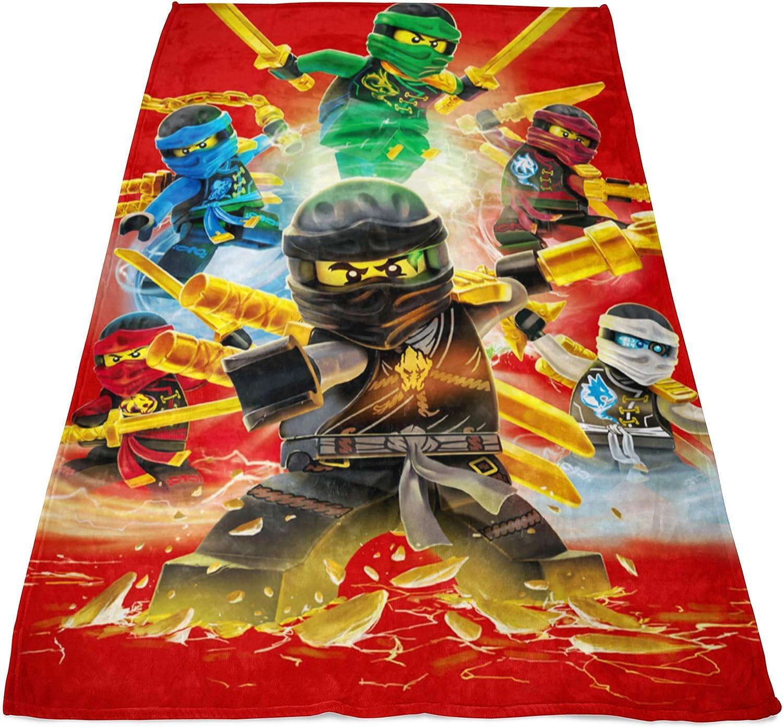 Manta grande de Lego Ninjago Fire 120 x 150 cm Cole Jay Kai Lloyd Zane Nya Misako Sensei Wu Lord Garmadon suave para niños manta de forro polar manta ...