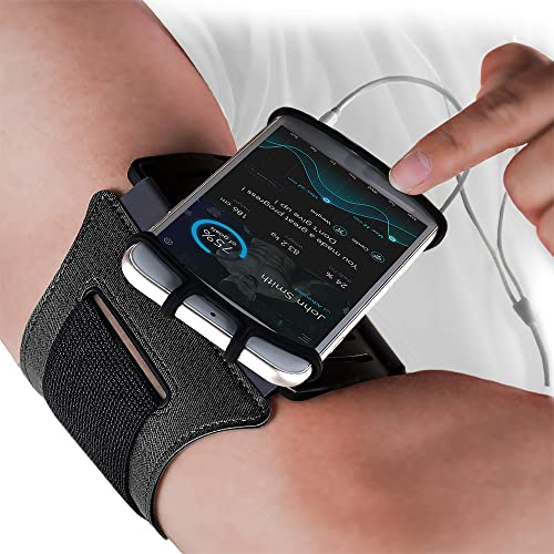 E Tronic Edge Rotatable Running Armband Cell Phone Holder for Running or Walking - Universal Phone Arm Bands for iPho...