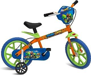 "Bicicleta Aro 14"" Power Game, Bandeirante, Laranja"