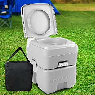 Portable Toilet Weisshorn Outdoor Loo Stand Camping Gear for Caravan RV Road Trip Fishing Boating Beach Hiking Market Merc...