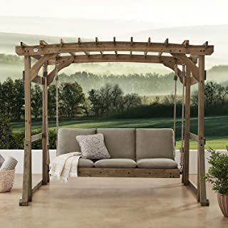 More Sweet Deals Outdoor Hanging Lounger Pergola Swing Convertible Daybed Rustic Barnwood