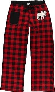 Moose Plaid Women's Fitted Womens Pajama Pants Bottom by LazyOne | Pajama Bottom for Women (Medium)