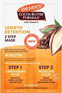 Palmer's Cocoa Butter & Biotin Length Retention 2-Step Hair Mask, 1 Ounce