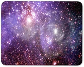 Qien BaiSei Stars of a Planet and Galaxy in a Free Space Mouse pad--Non-Slip Rubber Mousepad---Applies to Games,Home, School,Office Mouse pad