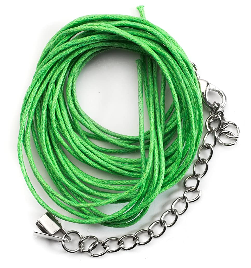 Cousin DIY Green Cotton Multi-Strand Cord Necklace Starter Kit - 18in