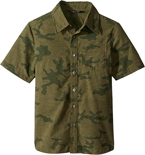Burnt Olive Green Woodland Camo Print/Classic Green (Prior Seaso