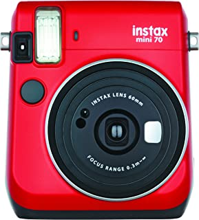 FUJIFILM インスタントカメラ チェキ instax mini 70 レッド INS MINI 70N RED