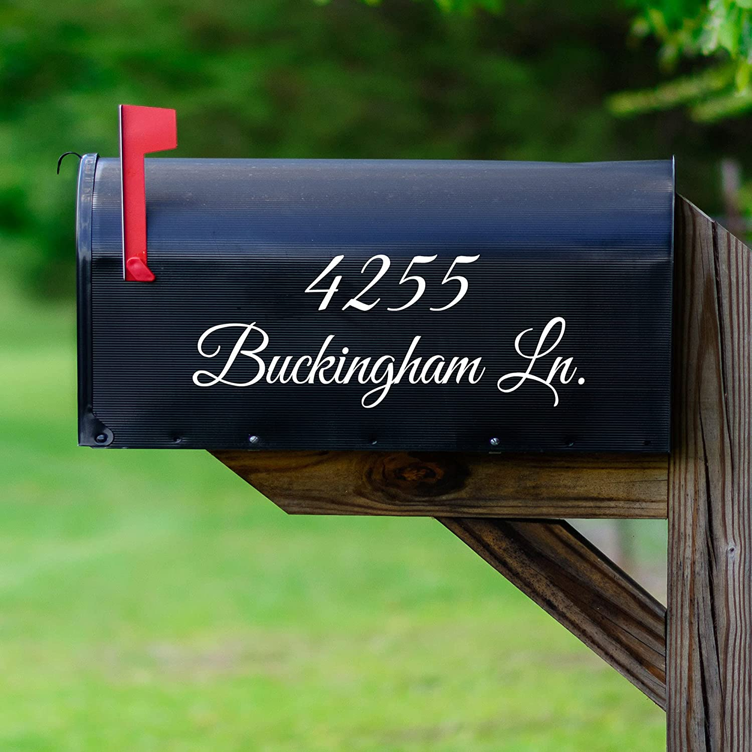 VWAQ Mailbox Address Decal Set of Insert Opening large release sale quality assurance - Street 2 Addre Name