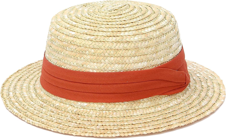 Brand new GEMVIE Kids Boys Girls Manufacturer direct delivery Straw Boater Summer Top Sun Flat Hat