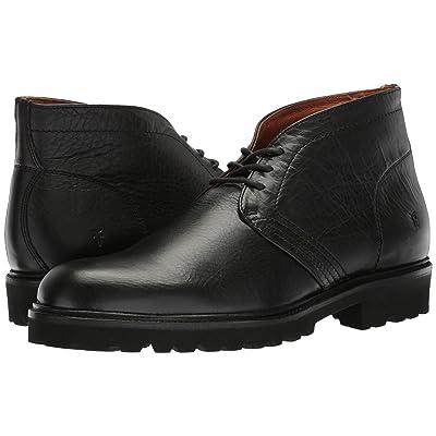 Frye Edwin Chukka (Black Tumbled Pull Up/Soft Vintage Leather) Men