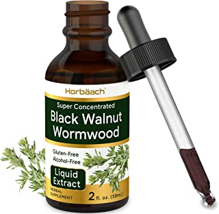 Black Walnut Wormwood Liquid Extract | 2 oz | Alcohol Free Tincture | Vegetarian, Non-GMO & Gluten Free | by Horbaach