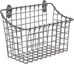 Spectrum Diversified Vintage Organizer Bin Cabinet & Wall Mount Basket, Large, Industrial Gray
